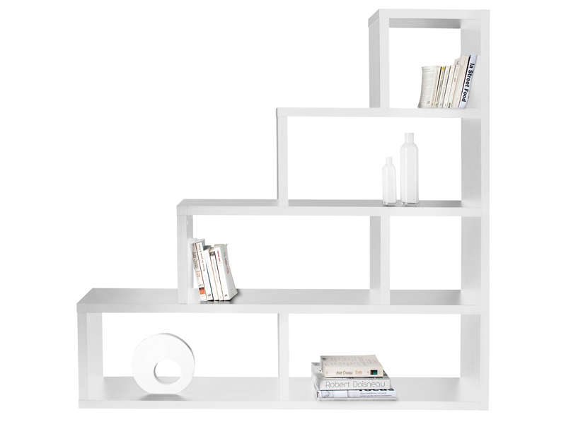 s paration zoe 5 coloris blanc vente de biblioth que et. Black Bedroom Furniture Sets. Home Design Ideas