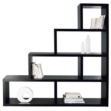 s paration zoe 5 coloris noir vente de biblioth que et vitrine conforama. Black Bedroom Furniture Sets. Home Design Ideas