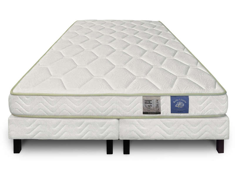 couette belle literie lovea ensemble matelas latex sommier unique oreillers offerts with. Black Bedroom Furniture Sets. Home Design Ideas