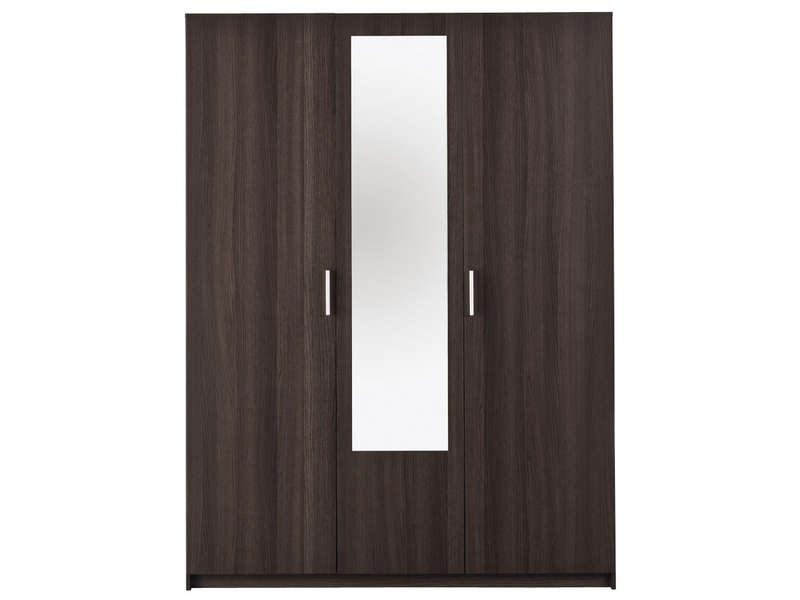 Armoire 3 portes battantes pricy 2 coloris ch ne vulcano for Armoire conforama 3 portes coulissantes