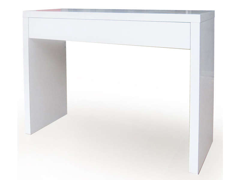 Console blanche conforama table de lit for Table blanche conforama