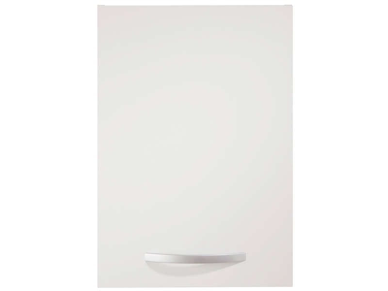 Meuble haut 40 cm 1 porte spoon coloris blanc vente de for Element de cuisine blanc