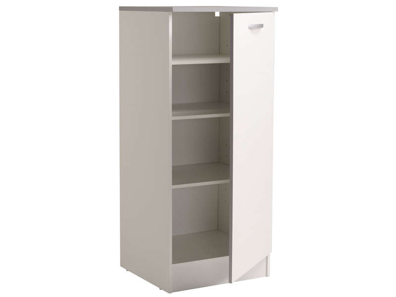 1 2 armoire 60 cm spoon coloris blanc vente de armoire. Black Bedroom Furniture Sets. Home Design Ideas