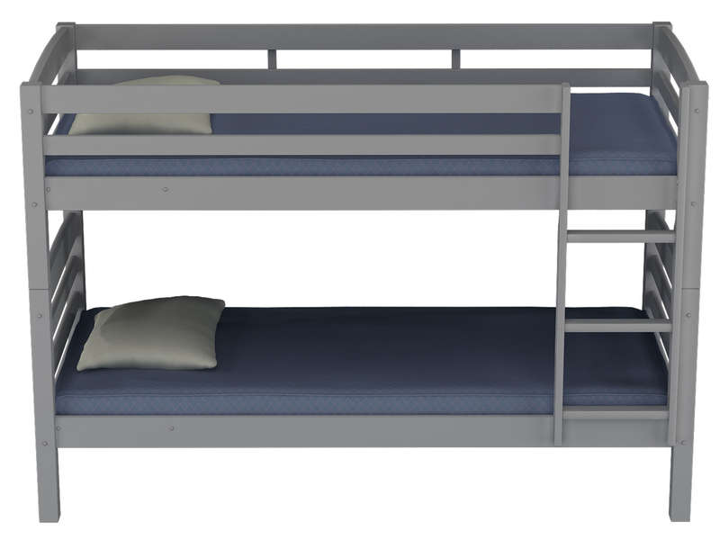 lit superpos s 90x200 cm harry 5 coloris gris vente de. Black Bedroom Furniture Sets. Home Design Ideas