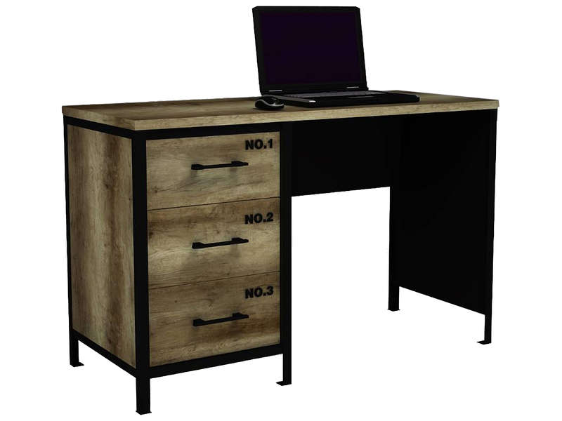bureau 3 tiroirs. Black Bedroom Furniture Sets. Home Design Ideas