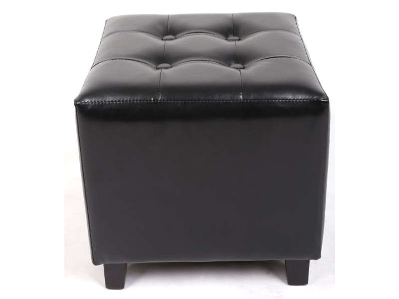 pouf louis coloris noir vente de pouf conforama. Black Bedroom Furniture Sets. Home Design Ideas