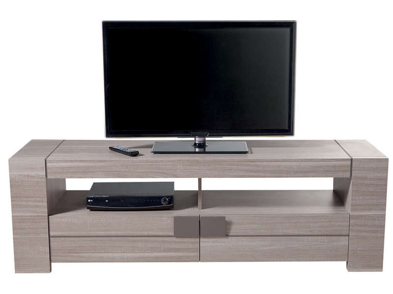 meuble tv 182 cm atlanta coloris ch ne clair vente de meuble tv conforama. Black Bedroom Furniture Sets. Home Design Ideas