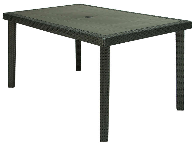 Table de jardin rectangulaire 90x150 cm BOHEME coloris anthracite