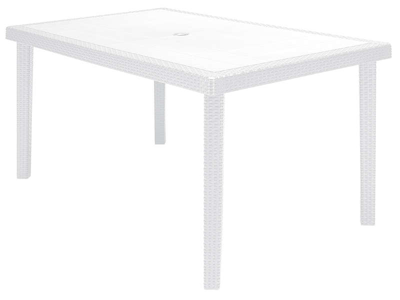 Table de jardin rectangulaire 90x150 cm BOHEME coloris blanc