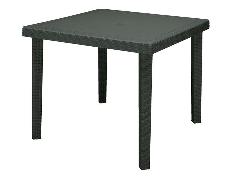 Table de jardin carrée 90x90 cm BOHEME coloris anthracite