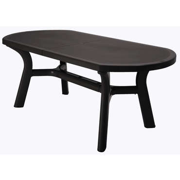 Table de jardin ovale 90x180 cm