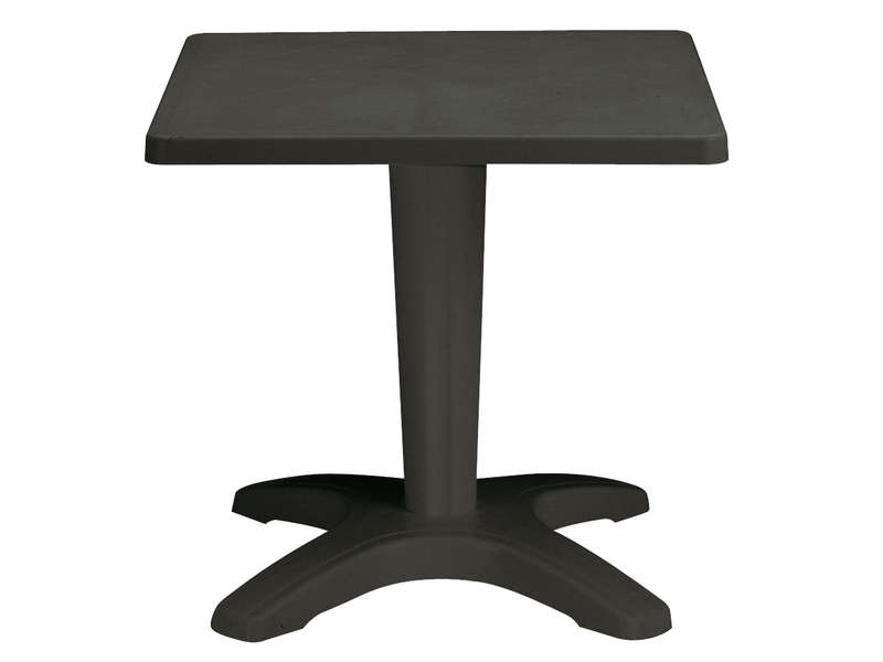 Table de jardin carrée 70 cm ZAVOR coloris anthracite - Vente de ...