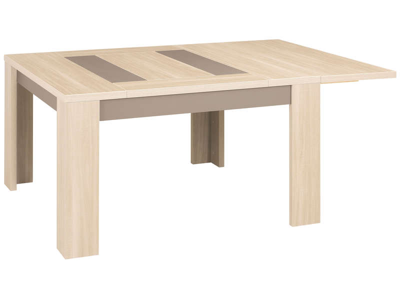 Allonge pour table carr e atlanta atlanta coloris ch ne for Table carree extensible 12 personnes