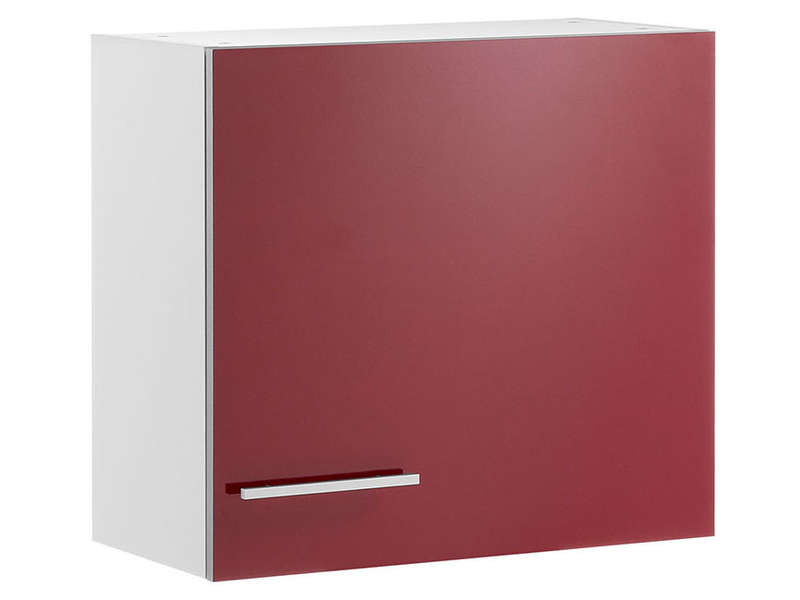 Meuble haut 1 porte 60 cm spoon shiny rouge chez conforama for Meuble porte gobelet