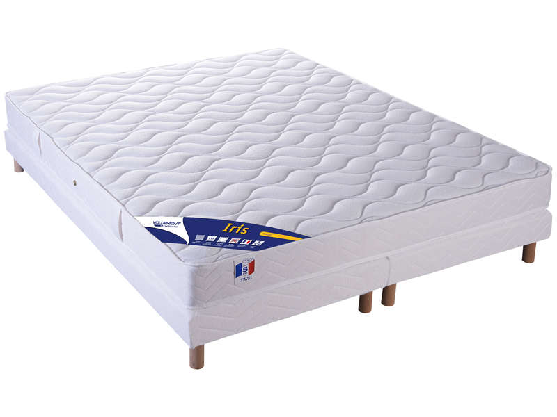 matelas sommier 160x200 cm volupnight iris vente de ensemble matelas et sommier conforama. Black Bedroom Furniture Sets. Home Design Ideas