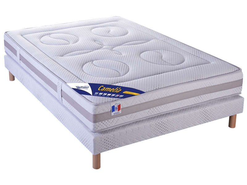 matelas sommier 140x190 cm volupnight prestige by conforama camelia vente de ensemble. Black Bedroom Furniture Sets. Home Design Ideas
