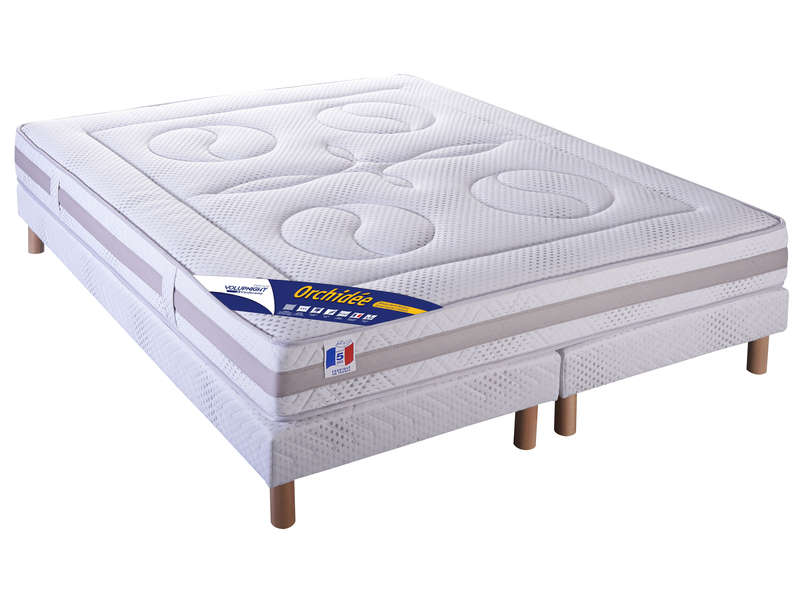 matelas sommier 160x200 cm volupnight prestige by. Black Bedroom Furniture Sets. Home Design Ideas