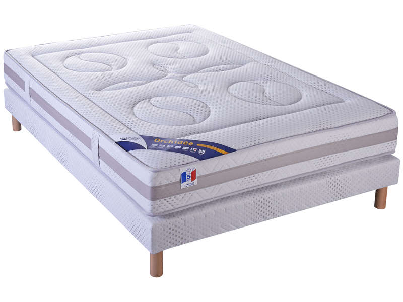 matelas sommier 140x190 cm volupnight orchidee vente de ensemble matelas et sommier conforama. Black Bedroom Furniture Sets. Home Design Ideas
