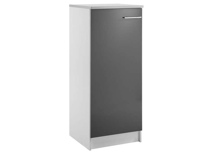 Colonne 60 cm spoon shiny anthracite chez conforama for Element armoire cuisine