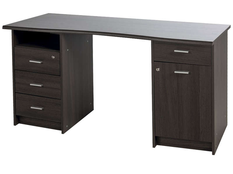 bureau 135 cm ch ne monaco coloris ch ne vulcano vente de bureau conforama. Black Bedroom Furniture Sets. Home Design Ideas