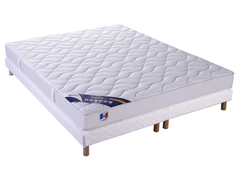 matelas sommier 160x200 cm volupnight egee vente de ensemble matelas et sommier conforama. Black Bedroom Furniture Sets. Home Design Ideas