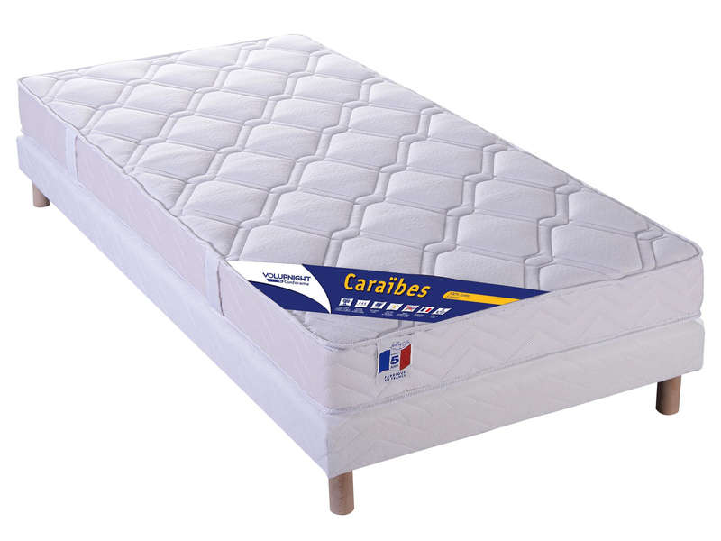 matelas sommier 90x190 cm volupnight by conforama caraibes vente de ensemble matelas et. Black Bedroom Furniture Sets. Home Design Ideas