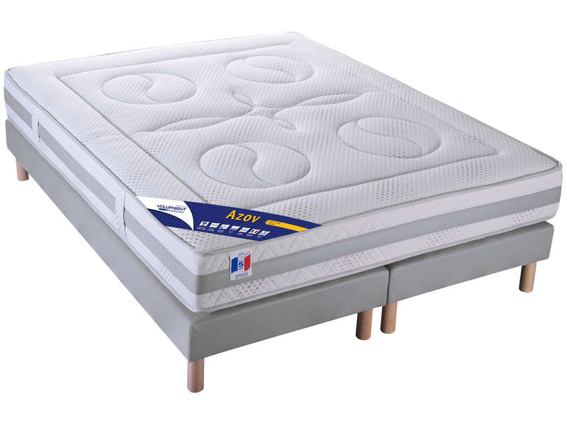 matelas sommier 160x200 cm volupnight by conforama azov. Black Bedroom Furniture Sets. Home Design Ideas
