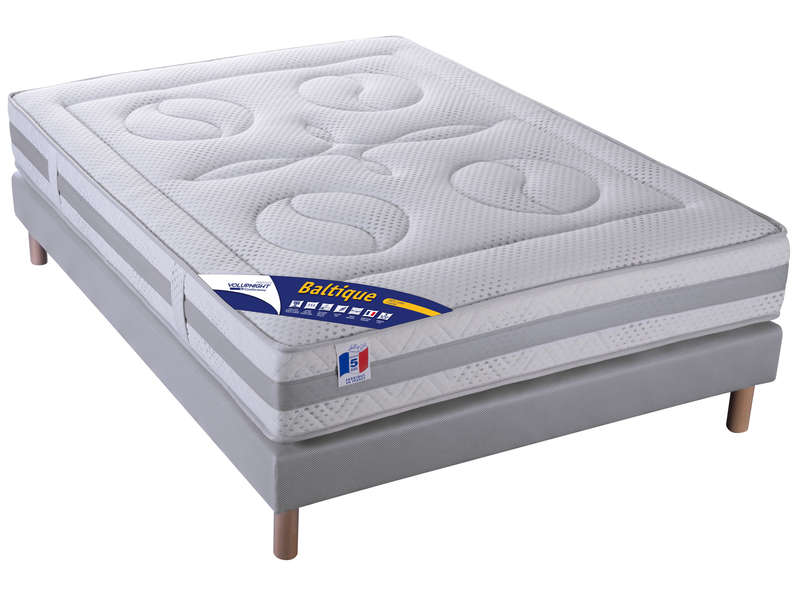 matelas sommier 140x190 cm volupnight baltique vente. Black Bedroom Furniture Sets. Home Design Ideas