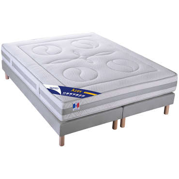 matelas sommier 160x200 cm volupnight by conforama azov vente de ensemble matelas et sommier. Black Bedroom Furniture Sets. Home Design Ideas