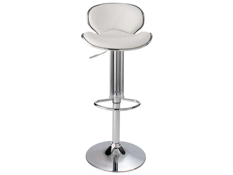 tabouret de bar shoko coloris blanc vente de chaise de. Black Bedroom Furniture Sets. Home Design Ideas