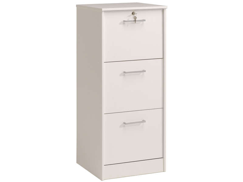 classeur 3 tiroirs ludik coloris blanc vente de bureau composer conforama. Black Bedroom Furniture Sets. Home Design Ideas