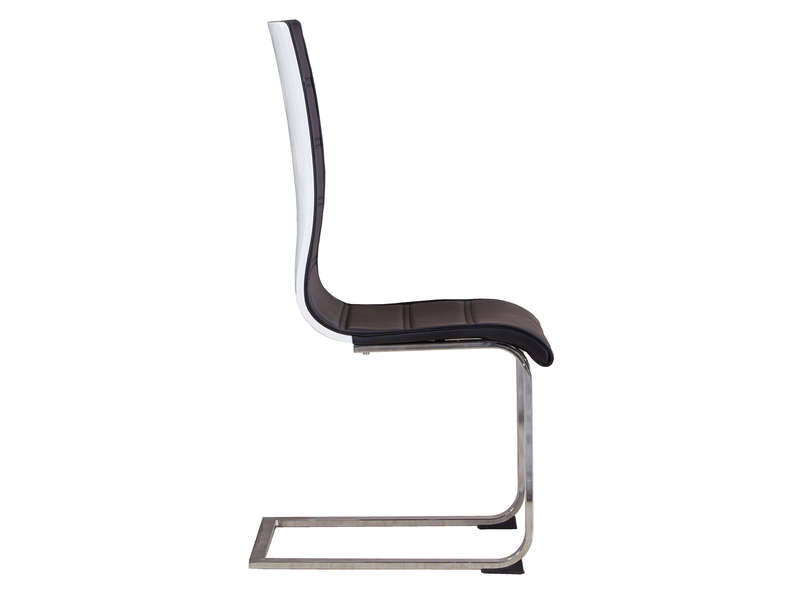 Chaise ollie coloris noir vente de chaise conforama for Conforama chaise blanche