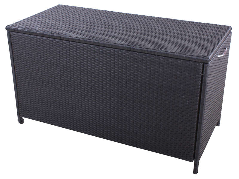 coffre de jardin rattan coloris gris vente de coffre et. Black Bedroom Furniture Sets. Home Design Ideas