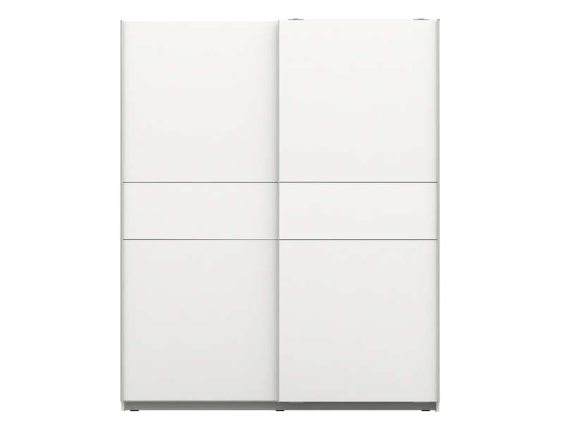 armoire 2 portes coulissantes winner 2 coloris blanc. Black Bedroom Furniture Sets. Home Design Ideas