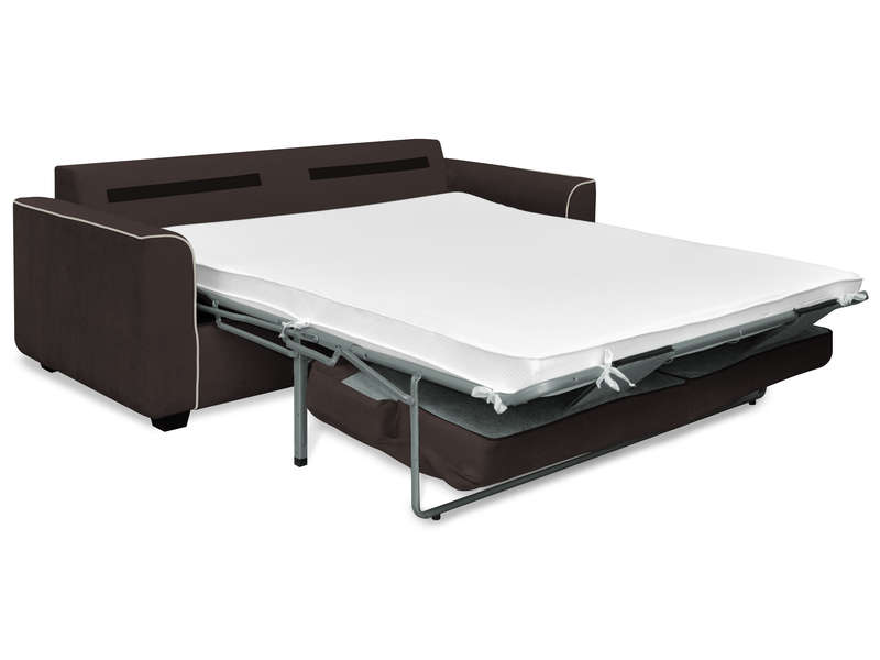 Canap fixe convertible 3 places en tissu marina coloris for Canapes conforama convertibles