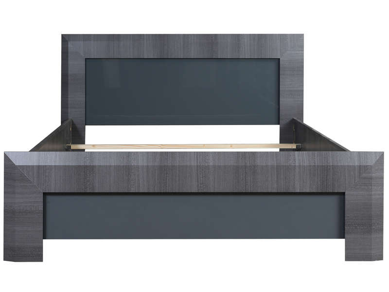 lit adulte 140x190 cm pamela coloris gris vente de lit adulte conforama. Black Bedroom Furniture Sets. Home Design Ideas