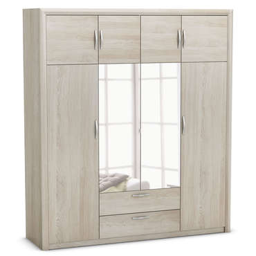 armoire pluton coloris ch ne shanon vente de armoire conforama. Black Bedroom Furniture Sets. Home Design Ideas