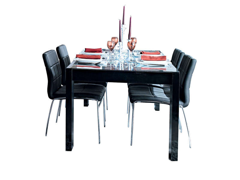 Table Rectangulaire  Cm Bel Air Coloris Noir Laqu  Vente De