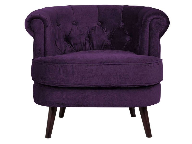 fauteuil en tissu felix coloris violet vente de tous les. Black Bedroom Furniture Sets. Home Design Ideas