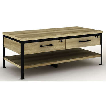 table basse arty bicolore vente de table basse conforama. Black Bedroom Furniture Sets. Home Design Ideas