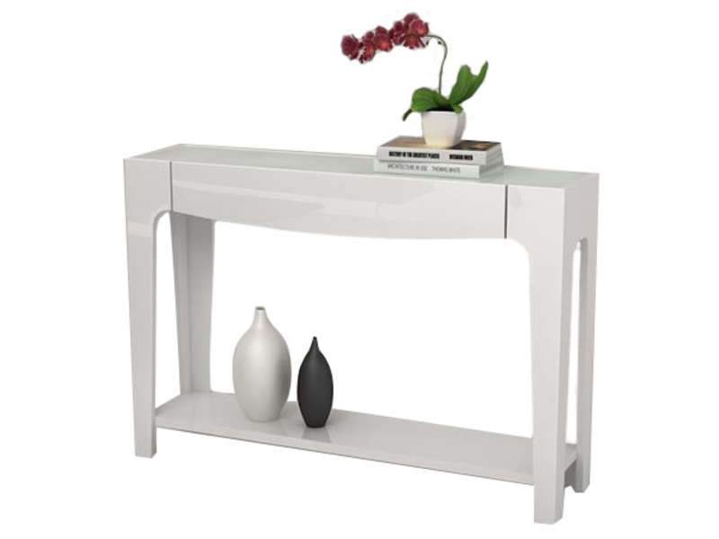 Console blanche conforama table de lit - Tables pliantes castorama ...