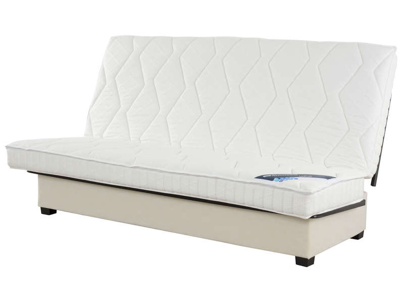 structure clic clac 140 cm matelas n 3 simmons lotus. Black Bedroom Furniture Sets. Home Design Ideas