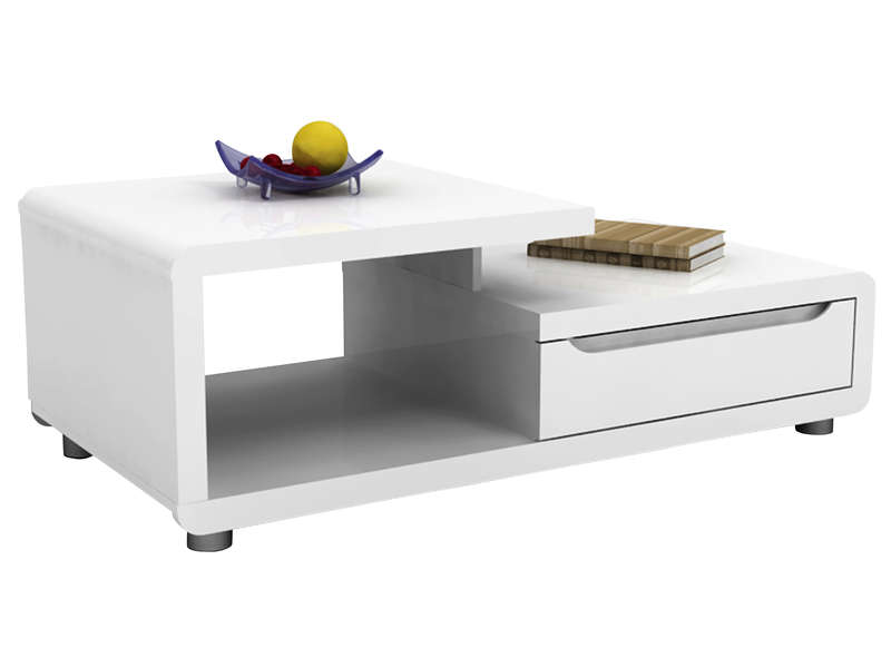 Table Basse Rectangulaire Bel Air Coloris Blanc  Vente De Table