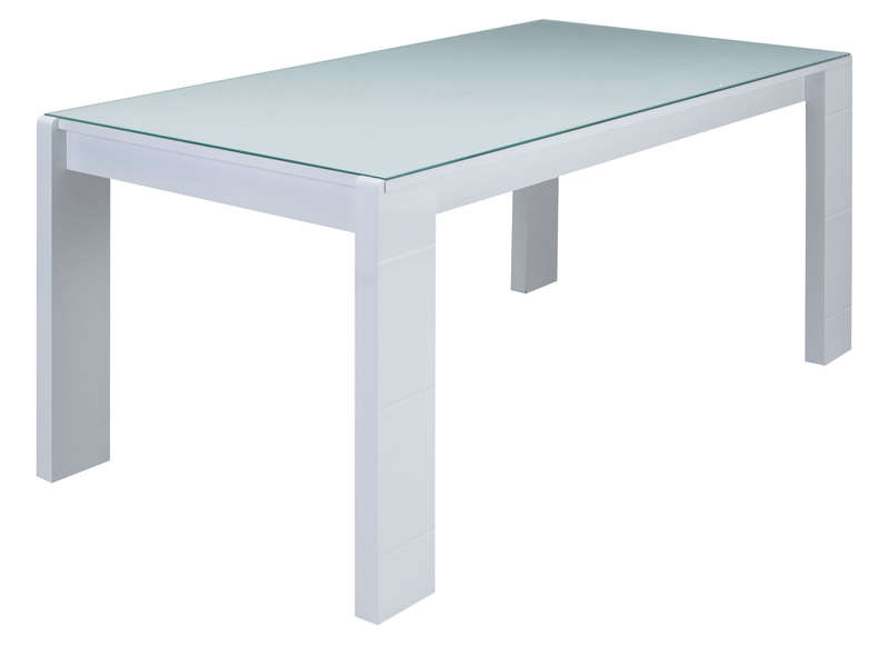 Table Rectangulaire  Cm Bel Air Coloris Blanc Laqu  Vente De