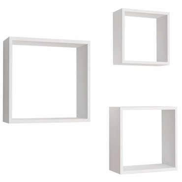 Set de 3 étagères murales CARE 3 coloris blanc