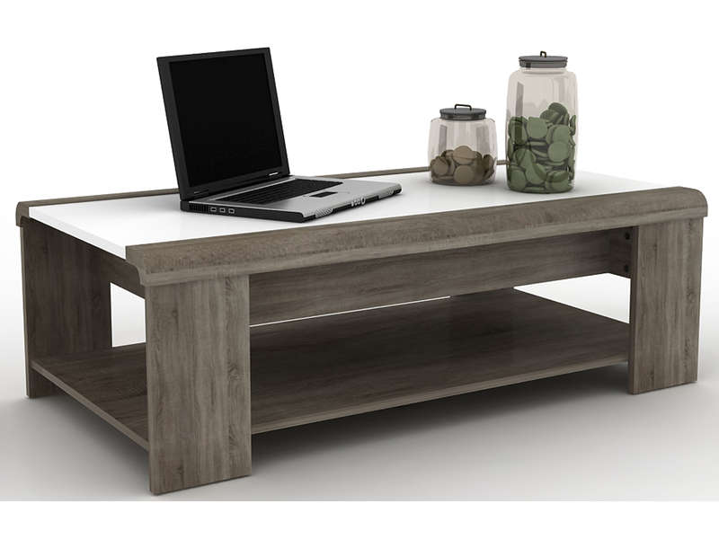 Table basse relevable for Table de jardin conforama