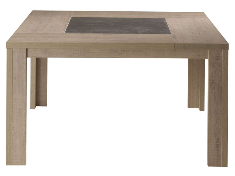Table de s jour 140 cm brest nature coloris ch ne clair Table sejour carree