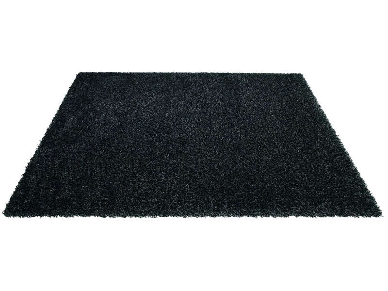tapis 230x160 cm shaggy studio coloris noir chez conforama. Black Bedroom Furniture Sets. Home Design Ideas
