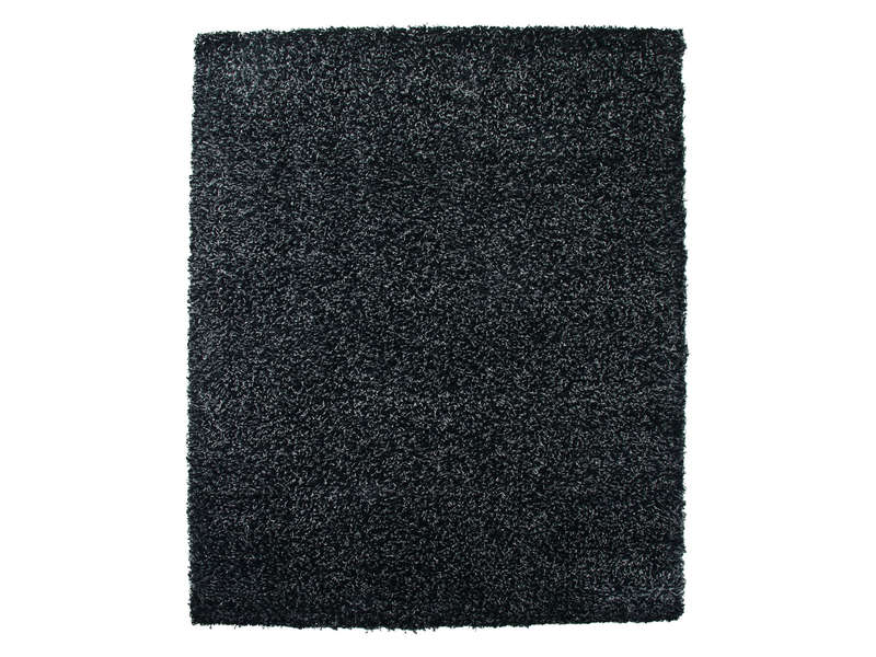 tapis 230x160 cm shaggy studio coloris noir vente de. Black Bedroom Furniture Sets. Home Design Ideas