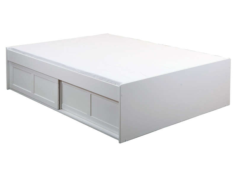 lit adulte 140x190 cm belem coloris blanc vente de lit. Black Bedroom Furniture Sets. Home Design Ideas